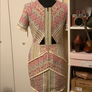 Tribal Colorful Dress Form Fitting